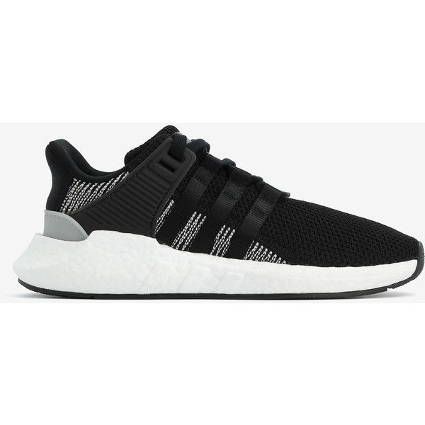 Adidas Adidas Eqt Support 93/17 Sneakers ($100) ❤ liked on Polyvore featuring shoes, sneakers, black, stretch shoes, adidas footwear, adidas sneakers, adidas trainers and textile shoes