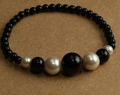 Black and White Faux Pearl Bracelet