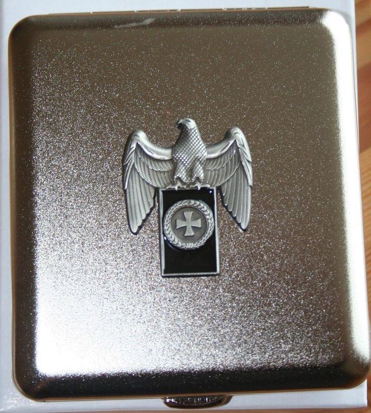 Zigaretten Etui Reichsadler Banner Eisernes Kreuz Emblem Metall NEU | eBay