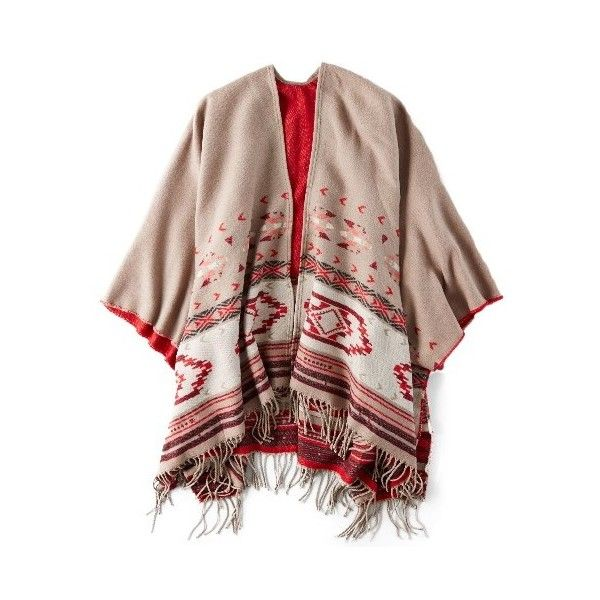 AEO Southwestern Blanket Shawl ($40) ❤ liked on Polyvore featuring accessories, scarves, shawl scarves and american eagle outfitters