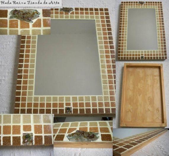 Espejos marco venecitas mosaiquismo varios arte for Espejos ovalados para decorar