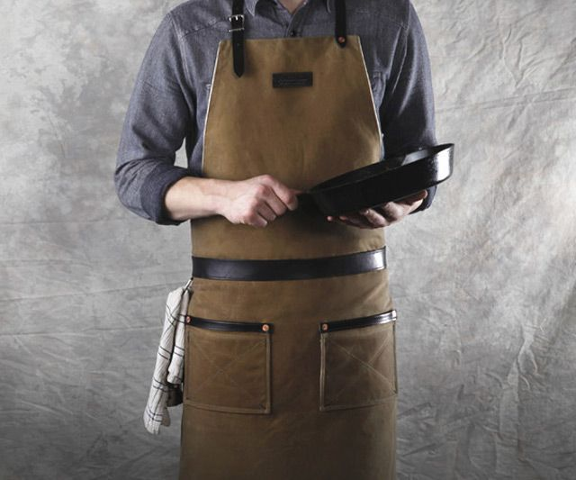 Rugged Mens Apron by Hardmill. leather wax canvas aprons are a great gift for men, dads, husbands, boyfriends, brothers, etc. made. durable goods of lasting quality.