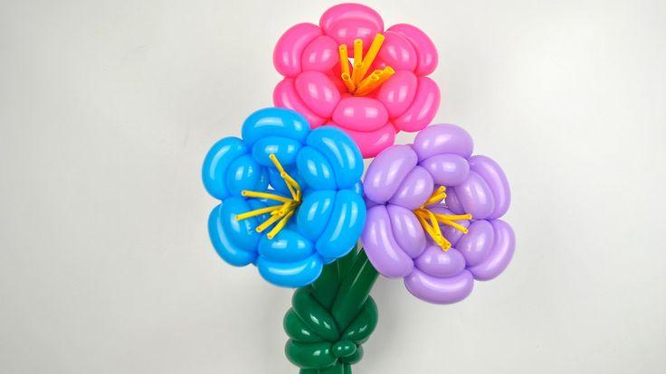 Цветок из воздушных шаров / Flower of balloons #flower#twisting#diy#howtomake#sharovedas