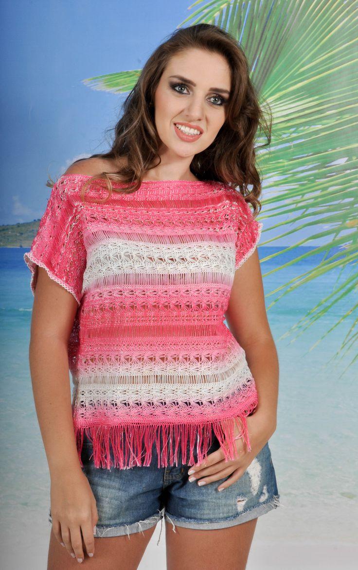 #summer2014 #fashion #verao #moda#knit #calor #praia #trico #tricot #montesiao #modaminas #saidadepraia http://www.coresemoda.com.br/