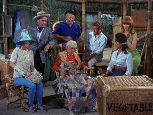 Jim Backus, Bob Denver, Alan Hale Jr., Tina Louise, Russell Johnson, Natalie Schafer, and Dawn Wells in Gilligan's Island (1964)
