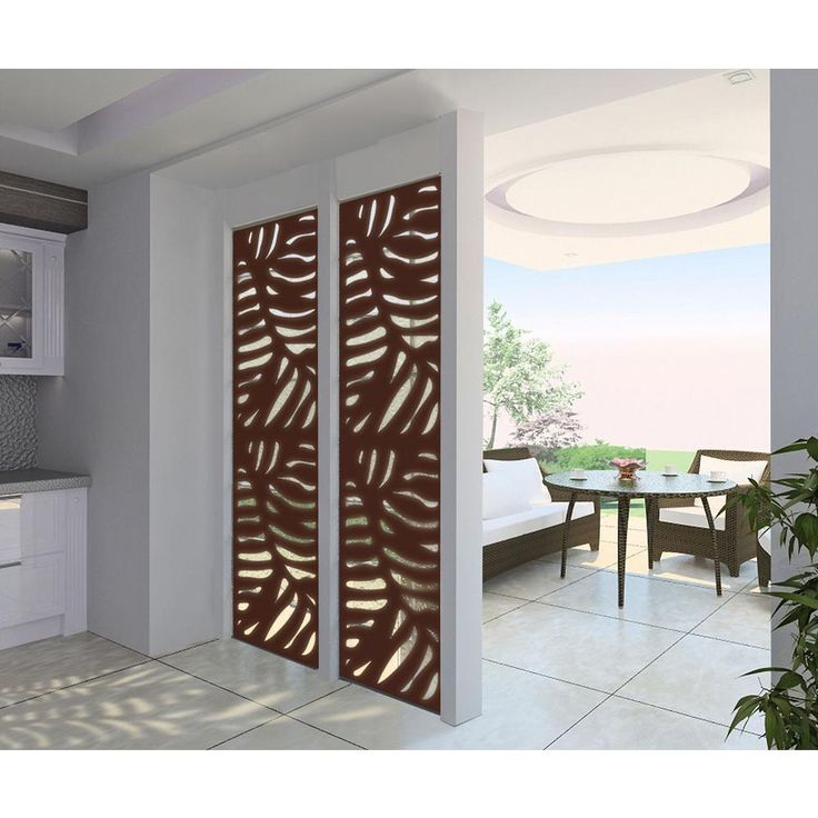 Accent Wall Using Privacy Fence Boards: Modinex 4 Ft. X 2 Ft. Espresso Brown Decorative Composite