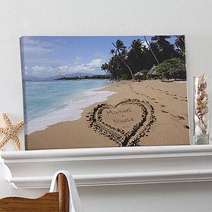 A Great Idea For Your Hawaiian Honeymoon Names In The Sand Wedding Anniversary Giftsanniversary