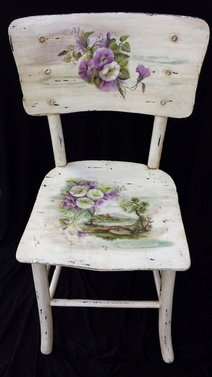 60 Exceptional Ideas for Decoupage in Chairs!