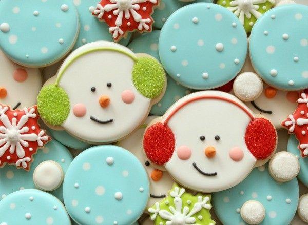 Snowman Cookies with Earmuffs
