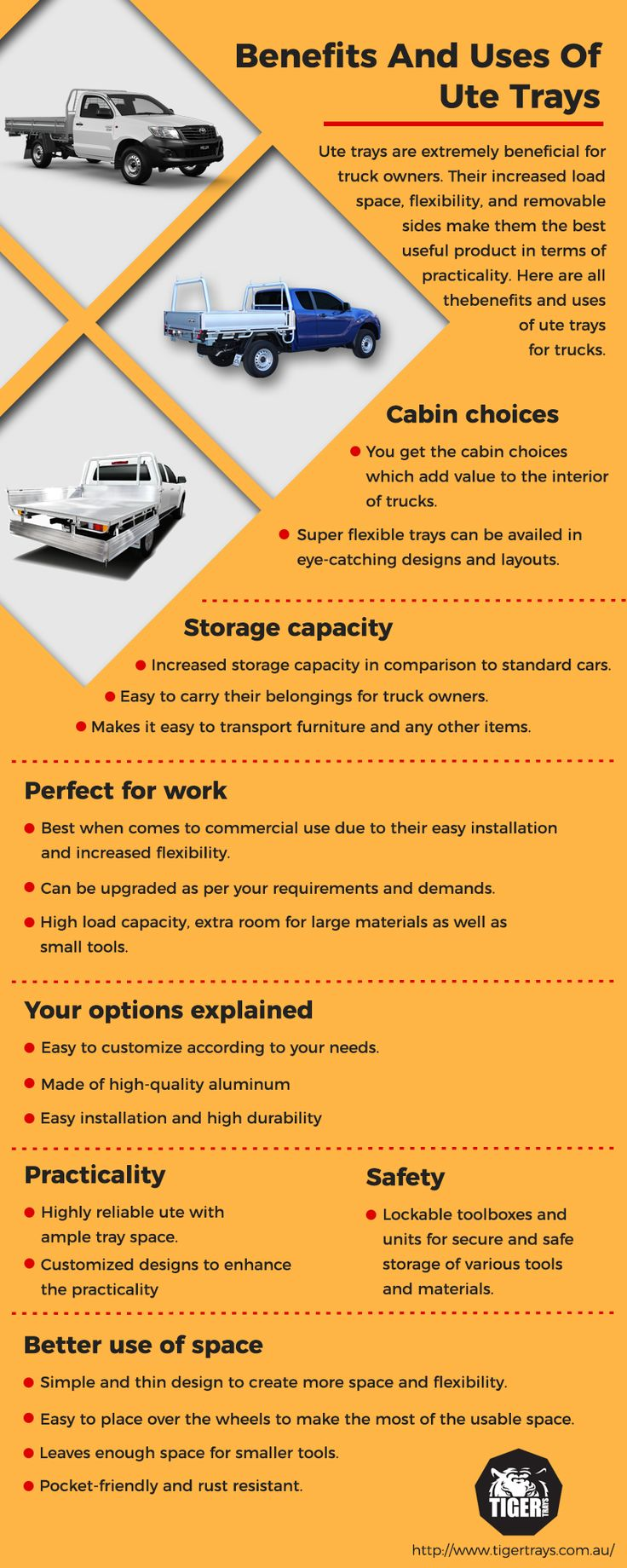 Ute trays come with numerous benefits in terms of practicality due to their flexibility, spaciousness and high strength. Know more benefits of these Ute trays, in this infographic.