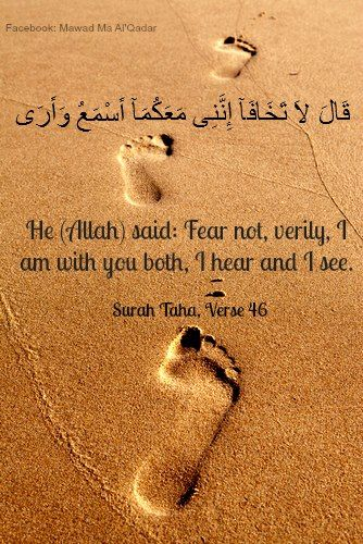 Qur'an -Surah Taha , Verse :46  ~Amatullah