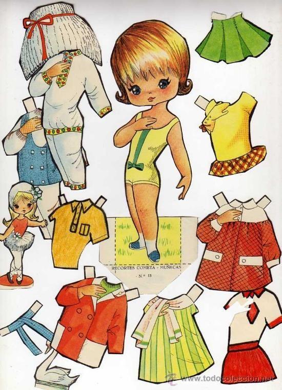 (⑅ ॣ•͈ᴗ•͈ ॣ)                                                               ✄Antiguo recortable de muñecas. Cometa.