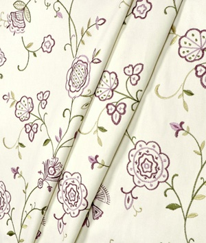 Waverly Belle Embroidery Laurel Fabric
