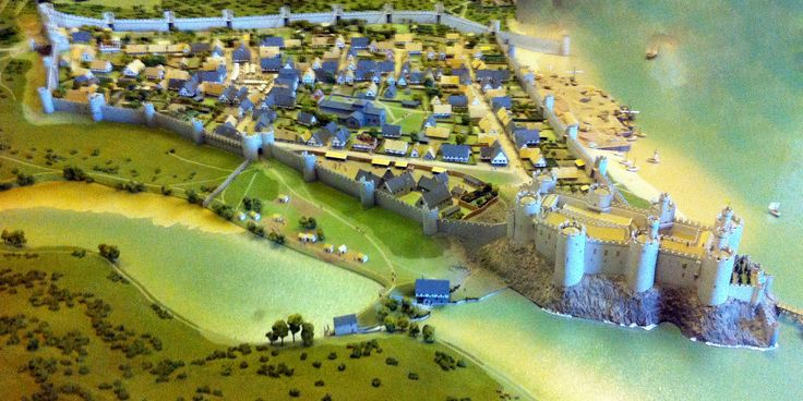 Conwy Castle reconstruction early 1300s