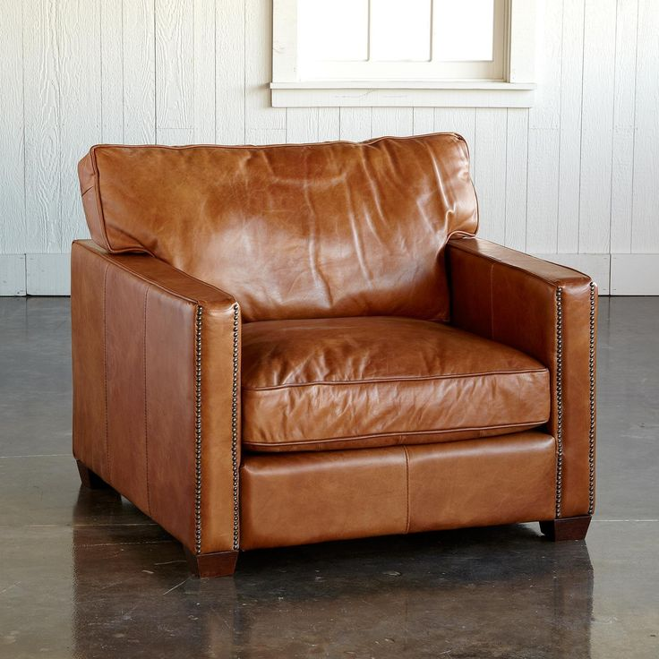 Oakville Leather Club Chair Unassuming In Scale
