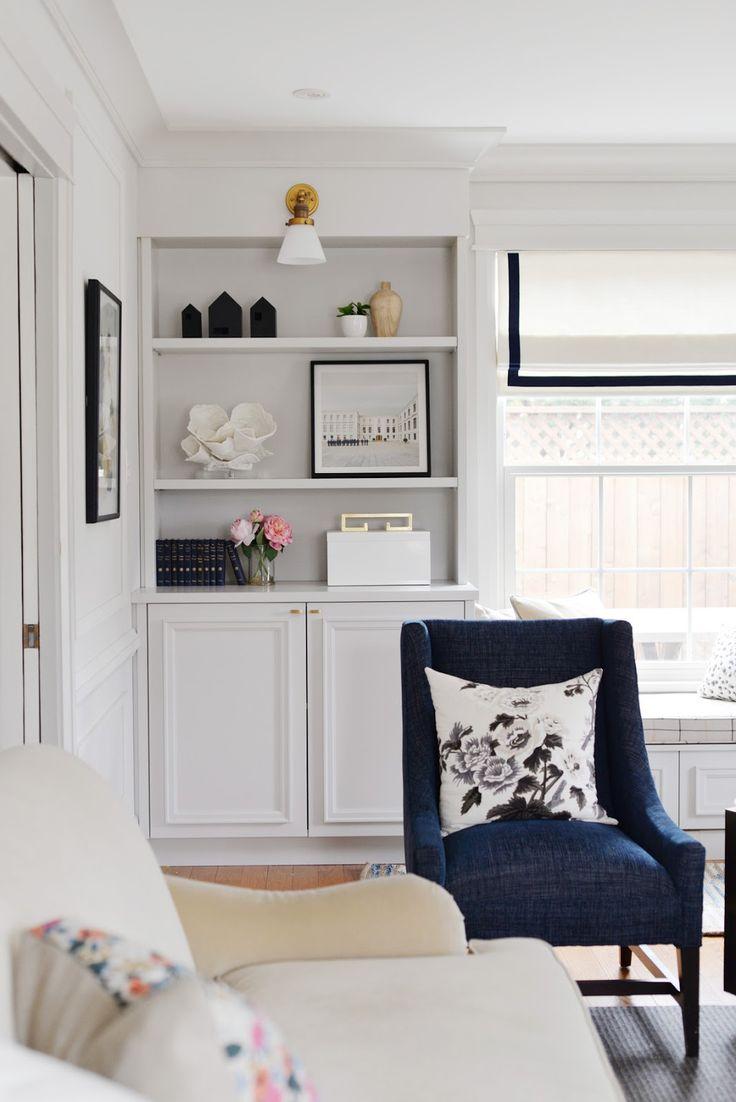 spring decorating, bookshelf styling