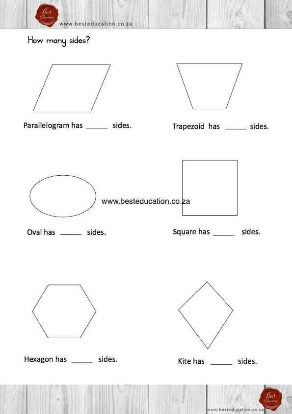 Side of 2D shapes Grade 3 Maths www.besteducation.co.za