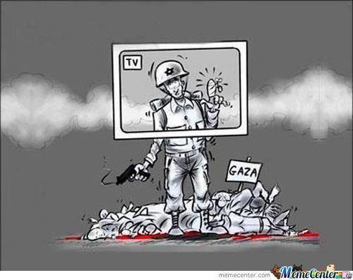 Shame on BBC, CNN, Fox who portray all war crimes in Gaza as those against Israel #gazaunderattack