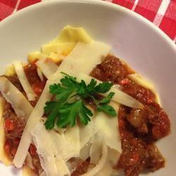 Pappardelle al ragù di cinghiale toscano semplice @ allrecipes.it