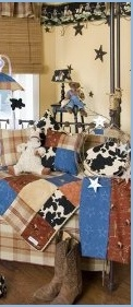baby cowboy nursery theme decorating ideas - Fun western design in super soft denims and plaids create a Southwestern look that?s sure to have your little cowpoke feeling home on the range. boys cowboy theme bedroom, cowboy comforter, cowboy theme bedroom, decorating a boy's cowboy bedroom, how to decorate a boys cowboy bedroom  COWBOY NURSERY
