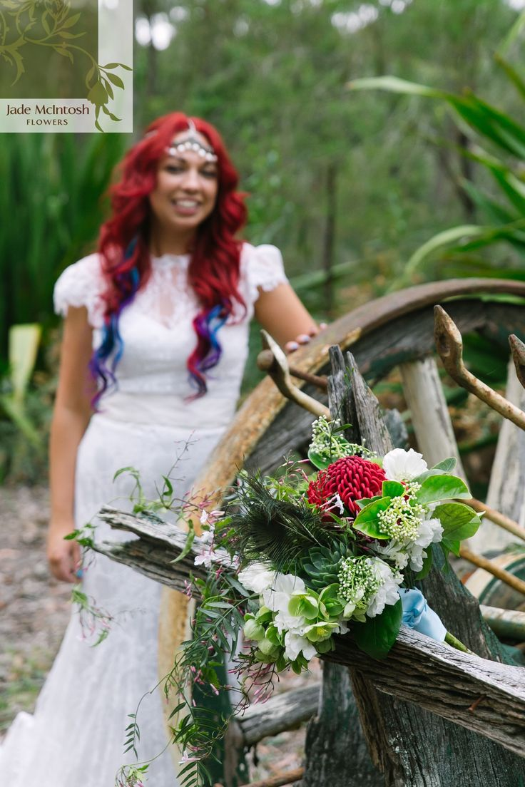 Emma and Tony: Offbeat Bride. See more at https://www.jademcintoshflowers.com.au/wedding/emma-and-tony-central-coast-wedding-flowers/