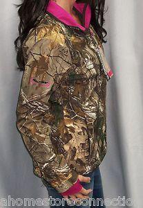 NWT Realtree Womens Softshell Camo Pink Hunting Jacket Under Armour Socks XL | eBay