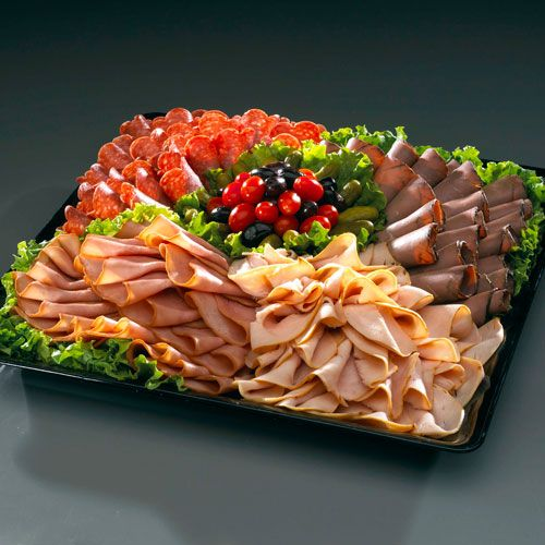 meat tray ideas. They need to be small squares for the crackers and cheese. Roast beef, ham, salami and pepperoni. All meat tray. Separate from vegetarian food.