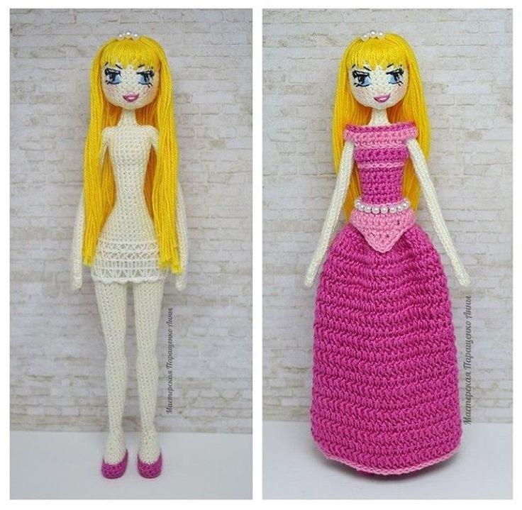 Принцесса Аврора.  Рост куколки 22 см. #dollphotography #dolls #collectiondoll #crochet #crocheting #girl #knit #knitting #knitstagram #handmadedoll #handmade #miniature #animedoll #anime #disney