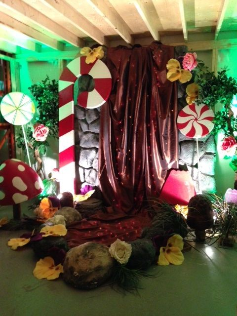 willy wonka stage decorations - Google Search