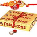 Send Delightful Toblerone with Free Nice Rakhi, Roli , Tilak and Chawal   to India Rs. 775 / $ 12.92