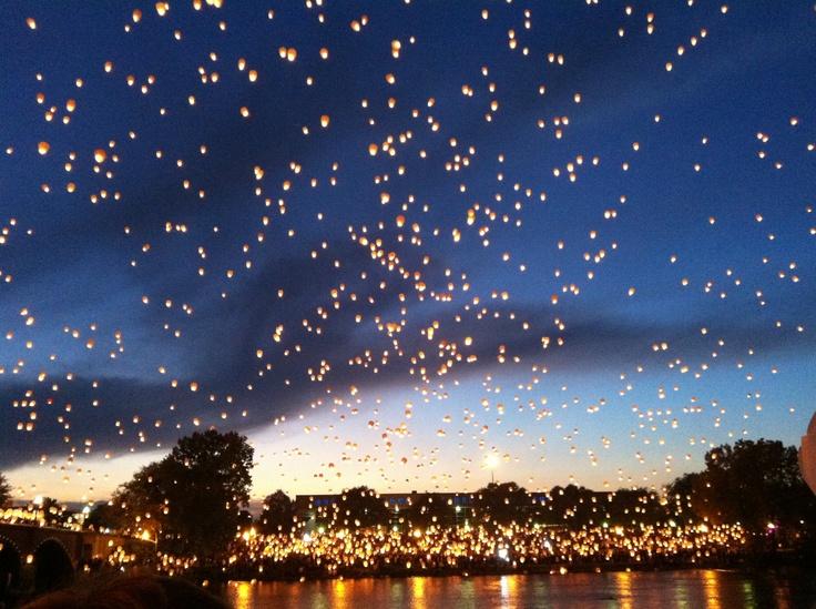 """Lights in the night"" Grand Rapids, MI ArtPrize"