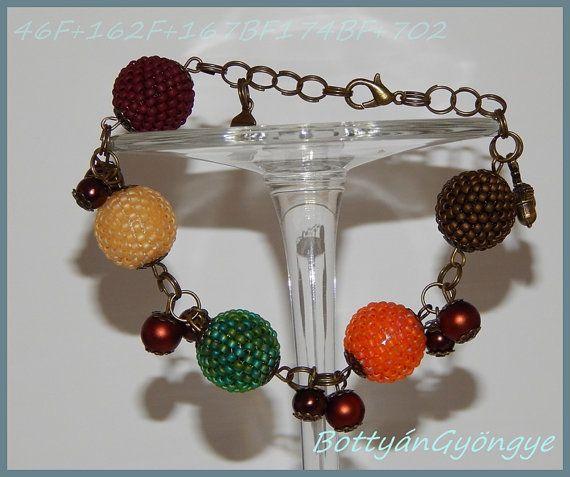 Autumn Beaded Bead Bracelet by BottyanGyongye on Etsy,