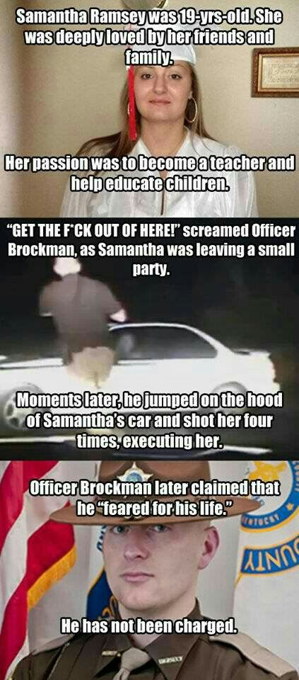 "That's all the cops have to say.. ""I feared for my life"" yeah right... Gtfoh"