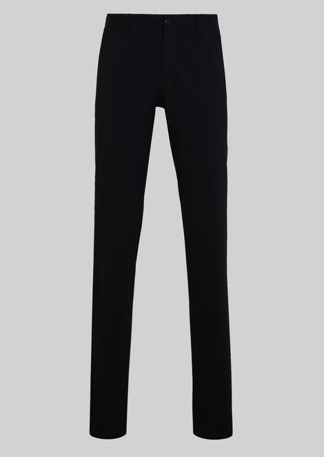 CLASSIC WOOL TROUSERS: Classic Trousers Men by Armani - 2