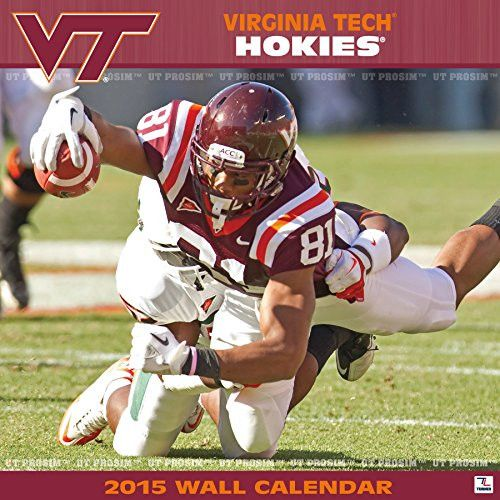 Turner Perfect Timing 2015 Virginia Tech Hokies Team Wall Calendar, 12 x 12 Inches (8011613)