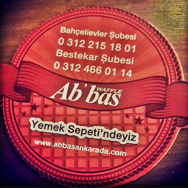 Abbas Waffle Ankara Yemeksepeti'nde! İsteyin getirelim.