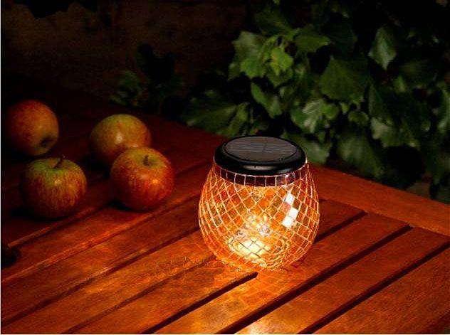 Crea un'atmosfera #romantica con la lampada Mosaic a Energia Solare.. effetto garantito!