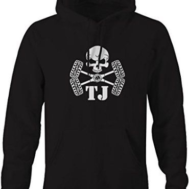 Skull Crossbones Tires Axles Jeep Wrangler Tj Pullover