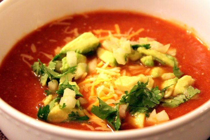 Vegetarian Tortilla Soup with Creative Toppings — The Picky Eater: A ...