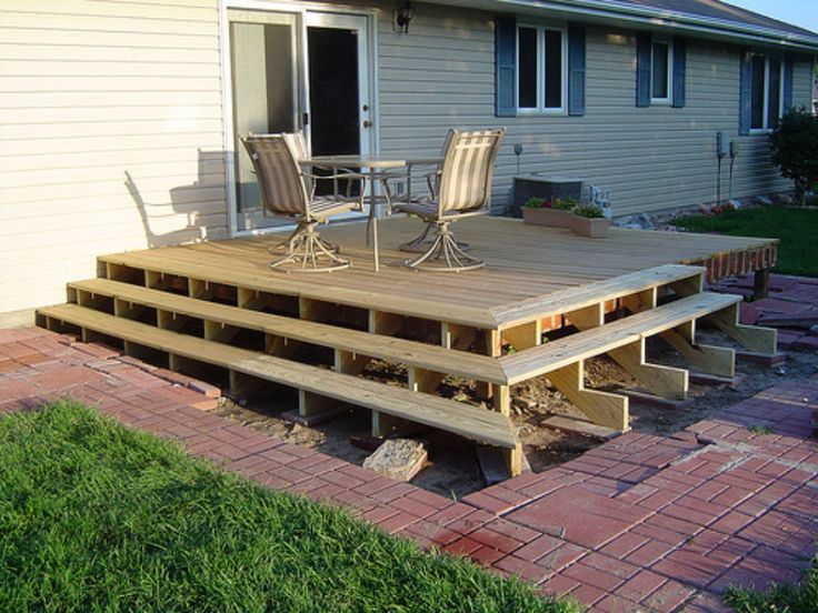 Diy decks and porch ideals how to build a deck using for Patio construction ideas