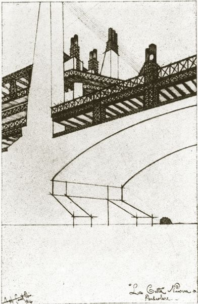 antonio sant'elia drawings | Futurist Architecture: Drawings of Antonio Sant'Elia | Mistlab