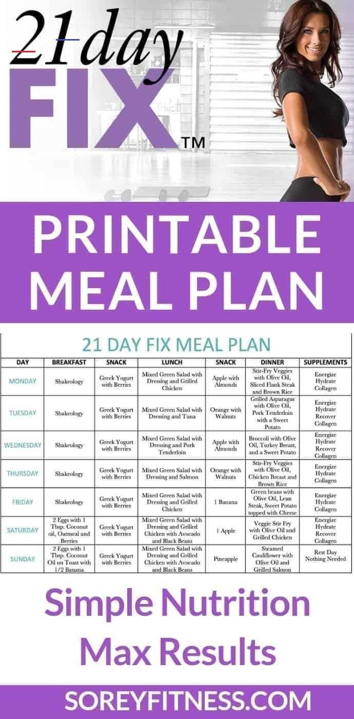 21 Day Meal Plan Pdf Myadventuretofit Free