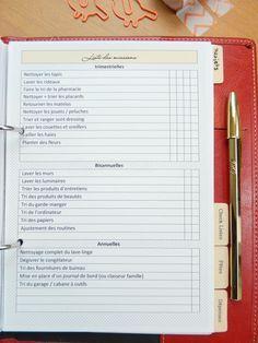 planning ménage free printable 3