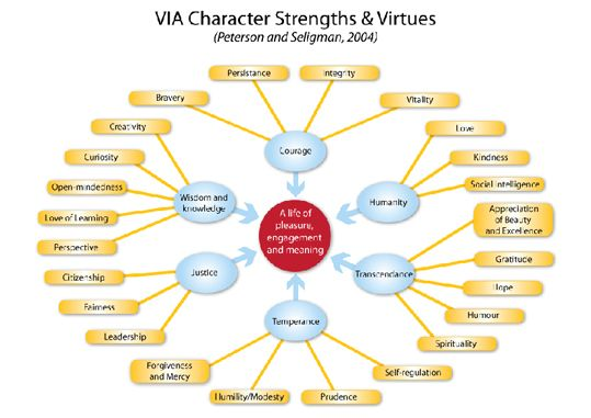 Rigologie, psychologie positive, méditation et bonheur: LES 6 VERTUS ET 24 FORCES DE CARACTÈRES