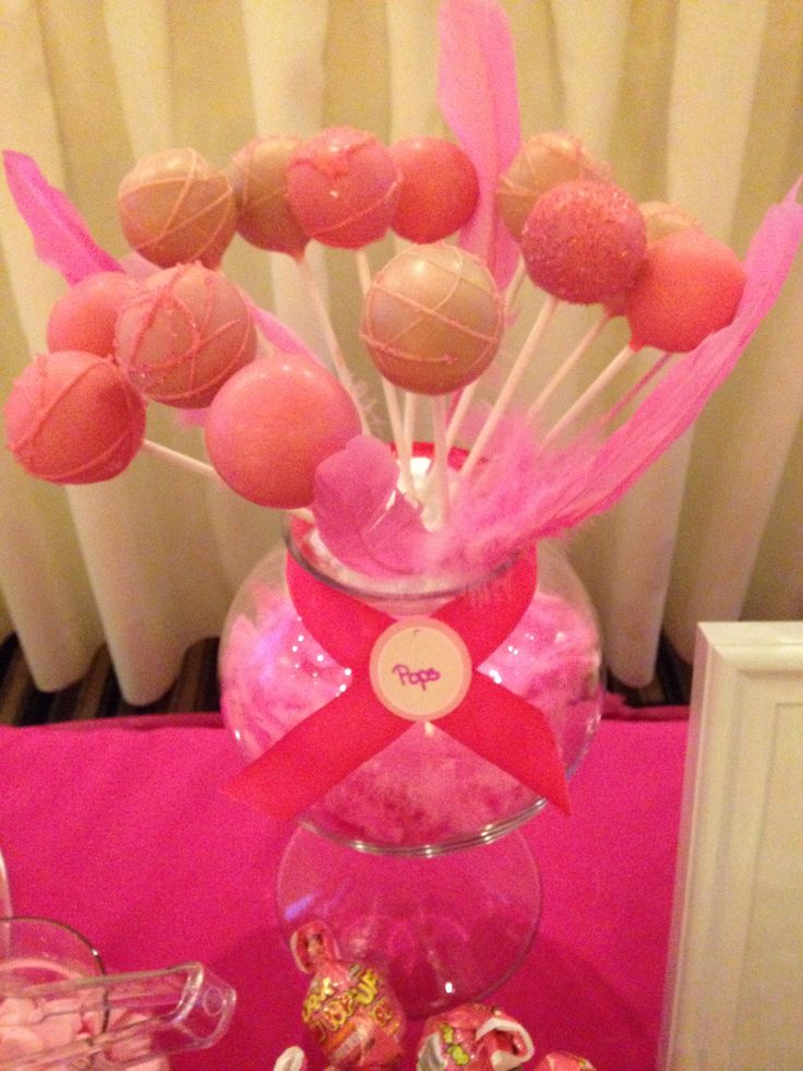 Pink Cake Pops  chocolate cake dipped in pink chocolate