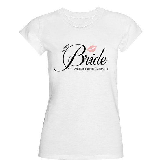 Wedding Tshirt label family and friends  Bride door SophiesLoveBirds