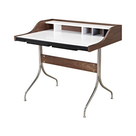 Whether your daily work entails lots of handwriting or computer work, this chic Compartment Desk is sure to make a perfect companion. Inspired by chic mid-century designs, this desk features sleek stai...  Find the Compartment Desk, as seen in the Timeless Mid-Century Ranch Collection at http://dotandbo.com/collections/timeless-mid-century-ranch?utm_source=pinterest
