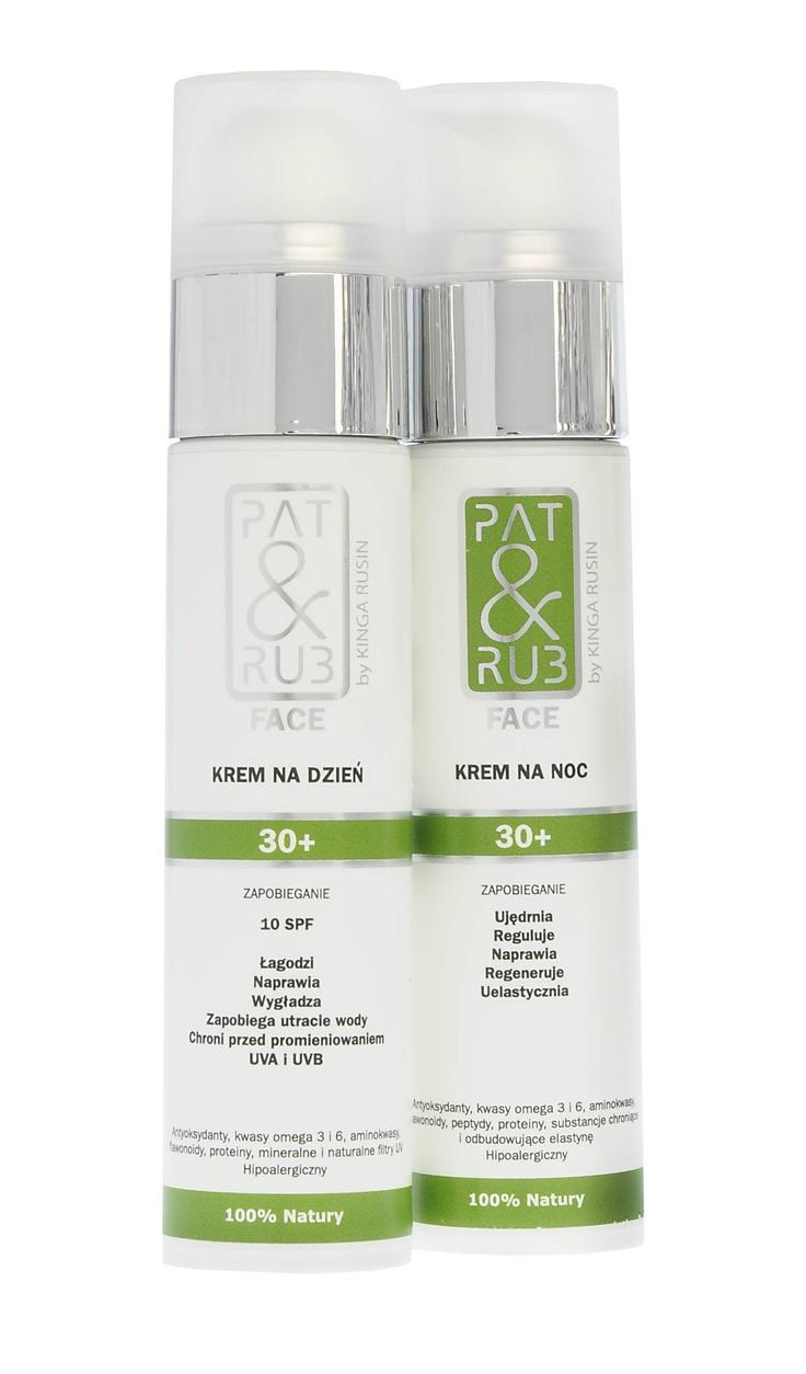 Kremy PAT & RUB Face 30+ -> nowoczesne, zapobiegające oznakom starzenia kosmetyki naturalne do aktywnej pielęgnacji skóry twarzy i szyi