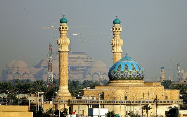 Islamic architecture in Baghdad. A mosque in Baghdad.
