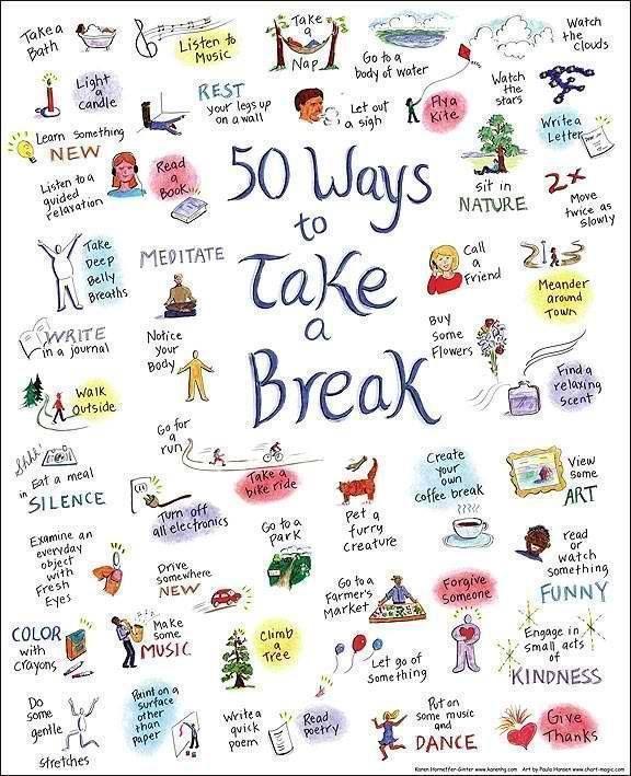 """""""Perioadele de relaxare ajută creierul să ia o pauză de la problemă în care-a ajuns să se învârtă în cerc.""""(Mariana Minea) - Link articol:->> http://evolutiaperfecta.ro/blog/pauza/"""